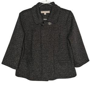 Croft & Barrow Cropped Cape Button Blazer Jacket Large